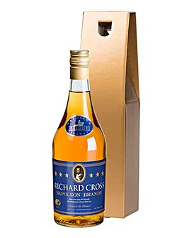 Personalised Brandy in a Gold Gift Box