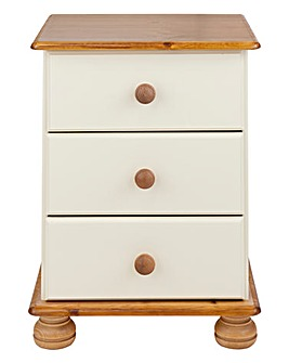 Stamford 3 Drawer Bedside Table