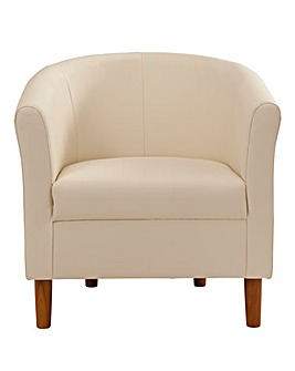 Faux Leather Tub Chair