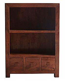Java Solid Acacia Wood Bookcase