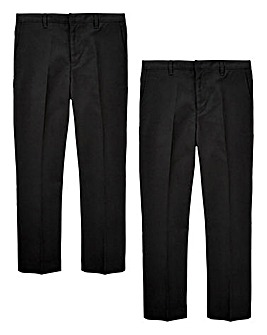 Boys Pack of Two Slim Fit Trousers
