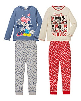 Pack of Two Minnie Mouse Pyjamas