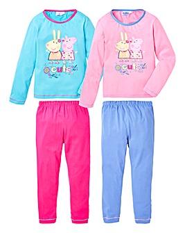 Peppa Pig Pack of Two Pyjamas