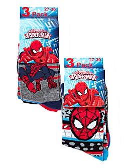 Spiderman Pack of Six Socks