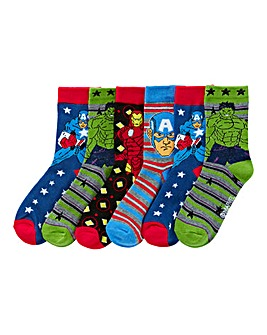 Marvel Avengers Pack of Six Socks