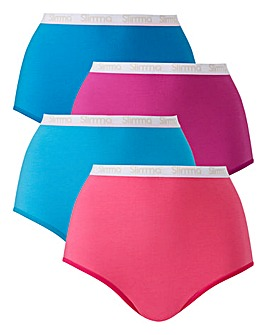 Slimma 4 Pack Full Fit Briefs