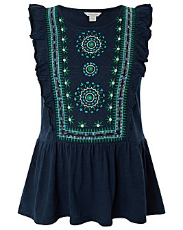 Monsoon Mara Embroidered Top