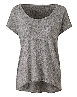 Grey Marl Lucie Short Sleeve T-shirt