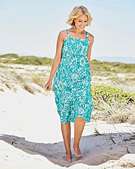 Crinkle Shirred Sun Dress