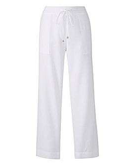 Linen Drawstring Trouser 29in