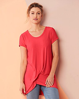 Coral Tuck Side Tunic