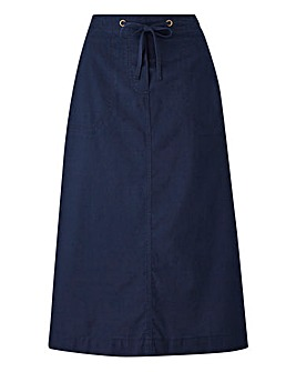 Cotton Drawstring Skirt