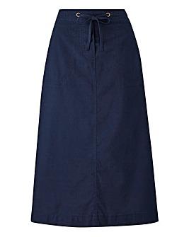 Cotton Drawstring Skirt