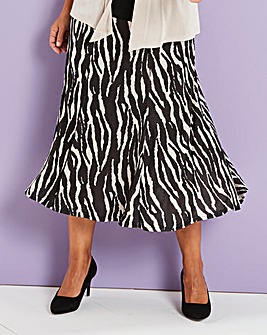 Printed Slinky Skirt 29in