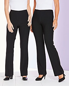Pack of 2 Ribbed Jersey Trousers