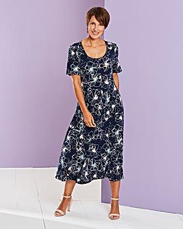 Round Neck Jersey Dress