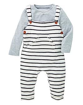 KD Baby Dungaree and T-Shirt Set