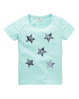 Girls Sequin Star T-Shirt