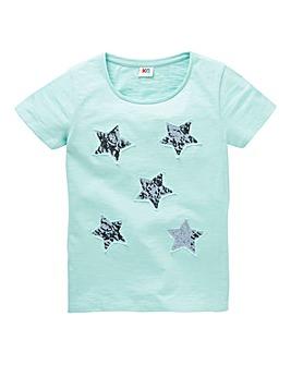 Girls Sequin Star T-Shirt