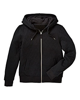 KD Boys Quilted Zip Front Hoodie