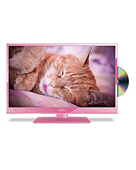Cello 20in LED/DVD Combi - Pink