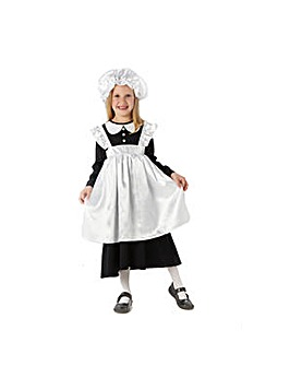 Girls Victorian Maid Costume + Free Gift