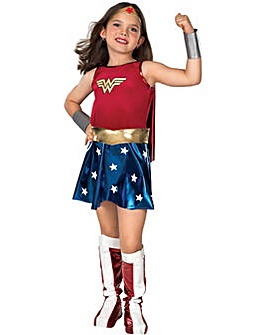 Girls Wonderwoman Tutu Dress + Free Gift