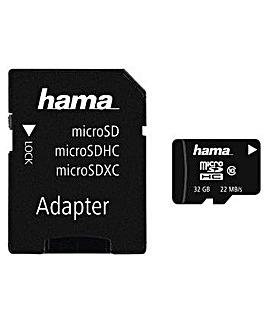 Hama microSDHC 32GB Card + SD Adapter