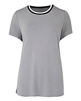 Grey Sports Rib T-Shirt