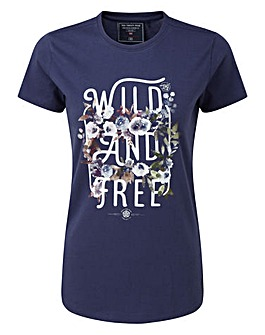 Tog24 Nicky Womens T-Shirt Wild And Free