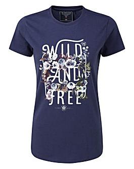 Tog24 Nicky Womens T-Shirt Wild And Free