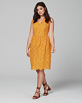 Lovedrobe Fit & Flare Broderie Dress