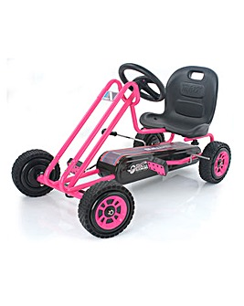 Hauck Pink Lightning Go Kart