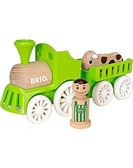 Brio Push-Along Farm Train Set