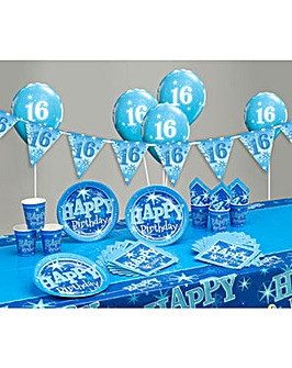 Sparkle Happy Birthday Age 16 Party Kit