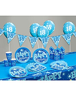 Sparkle Happy Birthday Age 18 Party Kit