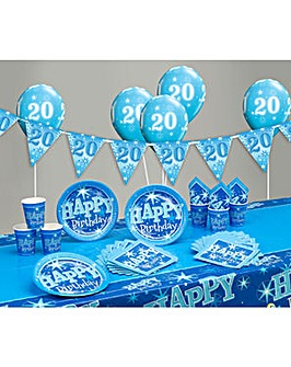 Sparkle Happy Birthday Age 20 Party Kit