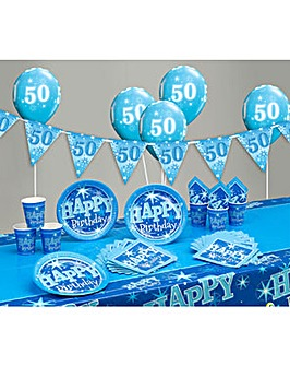 Sparkle Happy Birthday Age 50 Party Kit
