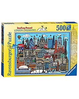 Around London Landmarks 500 Pc Puzzle
