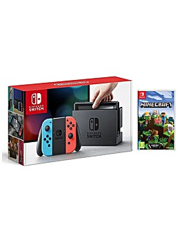 Switch Neon console and Minecraft Bedroc