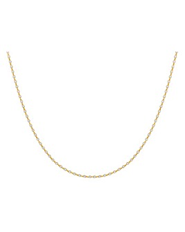 9Ct Gold Cube Necklace