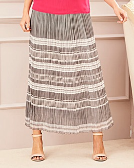 Stripe Crinkle Maxi Skirt