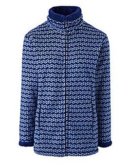 Print Fleece Jacket