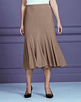 Jersey Skirt with Godets L27in