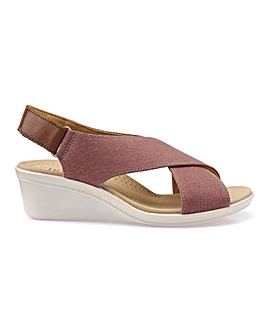Hotter Jasmine Ladies Wedge Heel Sandal
