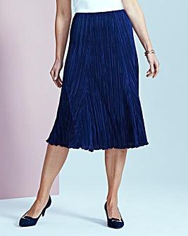 Plain Plisse Skirt with Godets