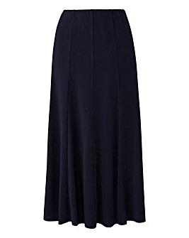 Plain Jersey Panelled Skirt L32in