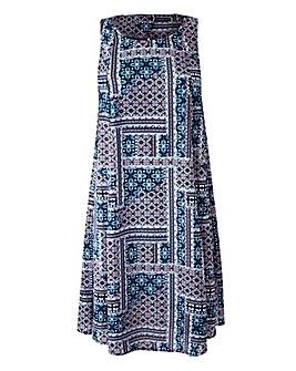 Sleeveless Swing Dress - Blue Print