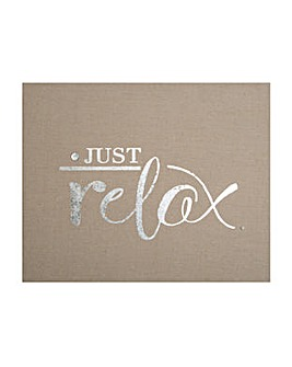 Just Relax Embellished Fabric canvas