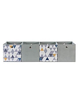 Hygena Set of 4 Large Mosaic Boxes